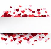 Valentine's background with pink hearts.  — Stock Vector