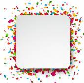 Confetti celebration background. — Stock Vector