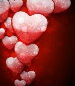 バレンタインの赤い背景. — ストックベクタ