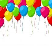 Celebrate background with flat balloons. — Wektor stockowy