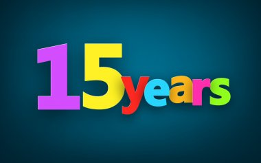 Fifteen years paper sign.