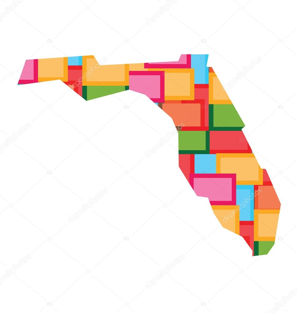 Florida Color Squares Map Concept Of Diversity Counties Happy - Florida map of counties