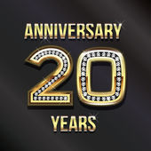20 years anniversary greeting card. — Stock Photo