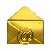 Open golden envelope email — Stockfoto