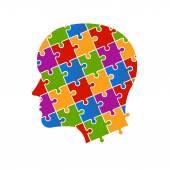 Puzzle people head — Stock Vector