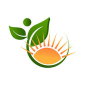 Nature and sunny life logo — Stock Vector