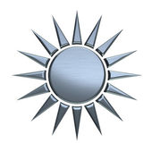 Silver sun isolated in white background — Zdjęcie stockowe