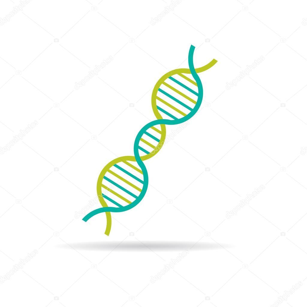 DNA string molecule logo — Stock Vector © deskcube #63912985