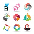 Set 1 of various types of icons for design — Stock Vector #74275849