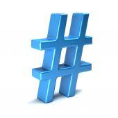 Hashtag. rendu 3d isolé — Photo