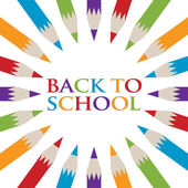 Back to School Pencil poster — Stock Vector