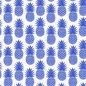 Vintage pineapple seamless — Stock Vector