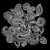 Beautiful Indian paisley ornament — Stock Vector