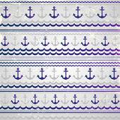 Beautiful anchor seamless — Stock Vector
