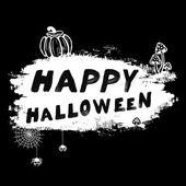 Vector vintage Happy Halloween l illustration — Stock Vector