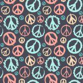 Retro Peace symbol seamless — Wektor stockowy