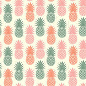 Vintage pineapple seamless — Stockvector