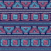 Tribal vintage ethnic seamless — Vecteur