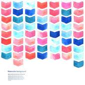 Watercolor geometric illustration — Stock Vector
