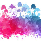 Vector Palm trees illustration — Stock Vector