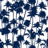 Vector Palm trees seamless pattern — Cтоковый вектор