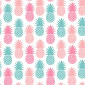 Vintage pineapple seamless — Stock Vector