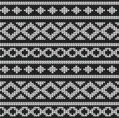 Seamless vector knitted pattern — Stockvektor
