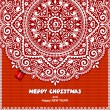 Beautiful Christmas lace ornament with a knitted background — Stock Vector #58029955