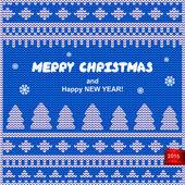 Vector Christmas knitted illustration — Cтоковый вектор