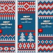 Beautiful Christmas set of banners with lace ornaments and knitt — Stock Vector #58685243