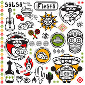 Set of Mexican vector symbols — Stock Vector