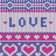 Valentines seamless vector knitted pattern with hearts — Stock Vector #62283943