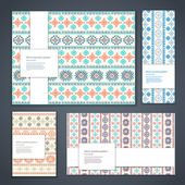 Beautiful floral set of banners — Stock Vector