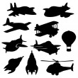Set of vector isolated plane icons — Stock Vector #65938941