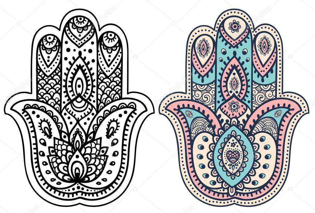 hamsa coloring pages - photo#33