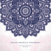 Beautiful Indian floral ornament. Wedding Invitation. Greeting c — Stockvektor