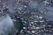 Aerial view of Landmark University of Hawaii Baseball Les Muraka — Stock Photo