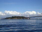 San Francisco Bay Bridge and Bay — Stock Photo