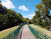 Concrete Path with Railings at the Ualaka'a lookout — 图库照片