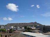 Diamond Head and Town Area of Honolulu, Hawaii — Stock Photo