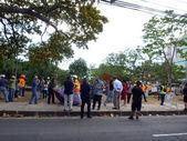 Thomas Square HPD Police Raid on deOccupy Honolulu encampment — Stock Photo