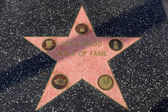 Walk of fame star on the Hollywood Walk of Fame  — Stock Photo