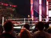 The Miz yells at crowd from the ring — Fotografia Stock