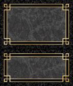Marble Frames — Stock Vector