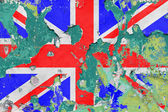 Gwiazda brytyjskiej, Polska flaga — Zdjęcie stockowe