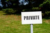 Private Signpost — Stock Photo