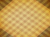 Yellow chequered canvas background — Stock Photo