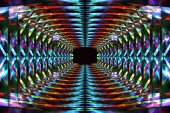 Abstract colorful tunnel — Stock Photo