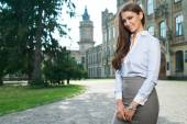 Young woman in formal clothes — Stock Photo