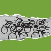 Cycle race in the grunge frame — Stock Vector